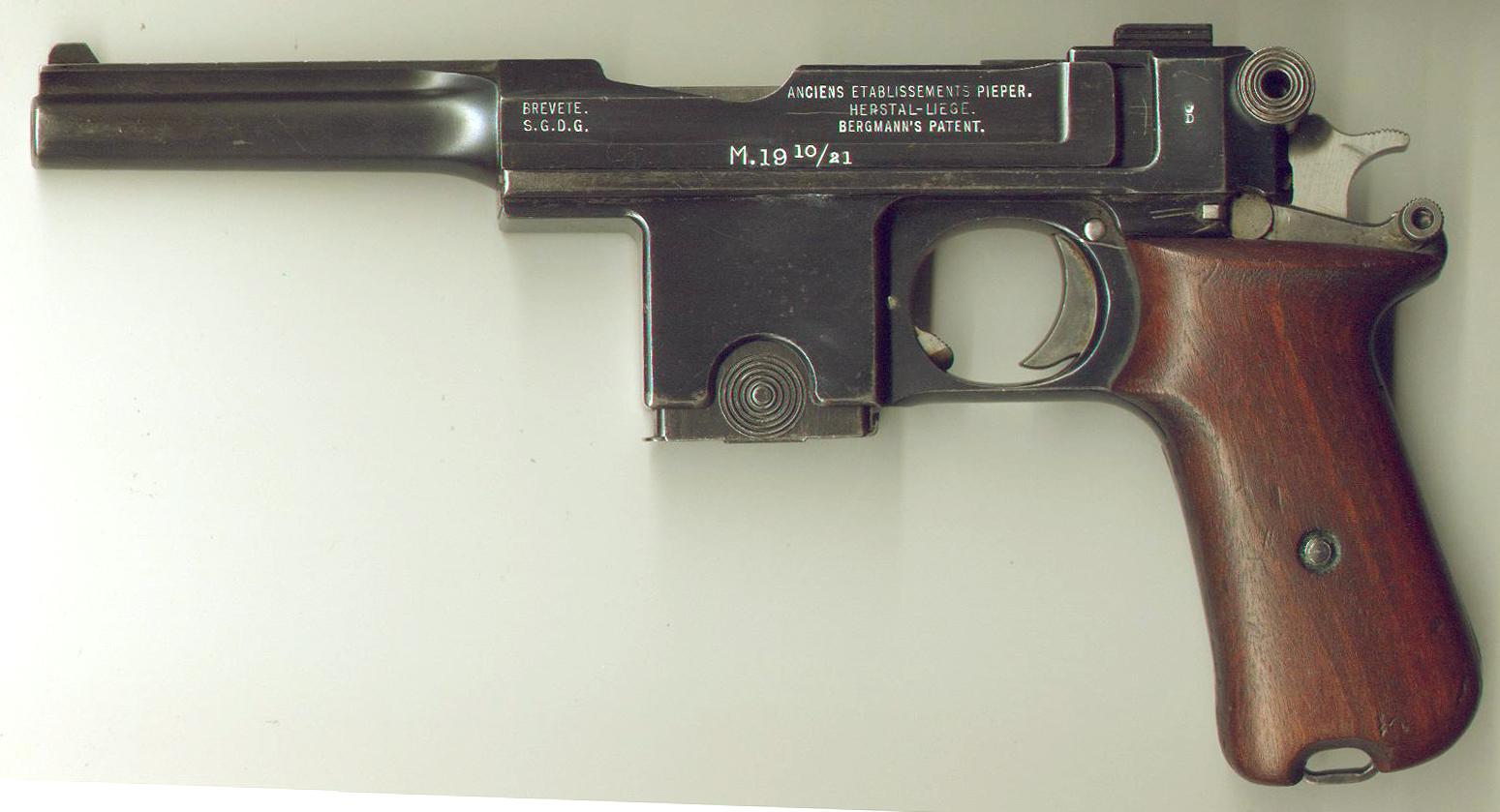 Resultado de imagem para Pistola Bergmann
