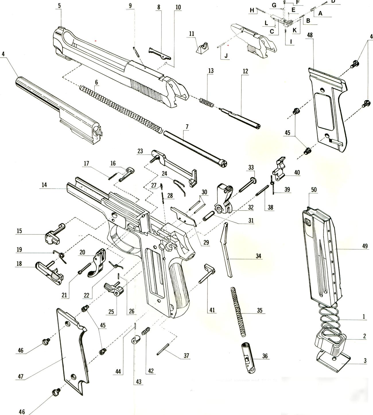 Taurus Pt 1911 Exploded Parts Diagram Wiring Diagrams For Dummies Schematic Pistola 57 E Suas Varia U00e7 U00f5es Armas On Line Manual