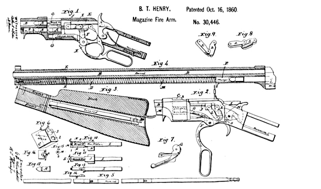 Patent Drawing Henry Rifle Armas On Line